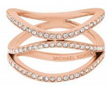 Michael Kors Pozlacený ocelový prsten s krystaly MKJ6640791 57 mm