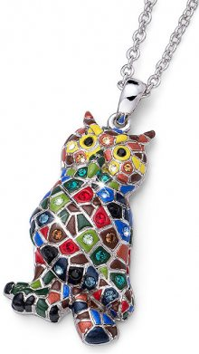 Oliver Weber Pestrobarevný náhrdelník Sova Ocean Owly 11725