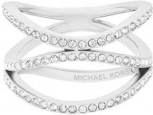 Michael Kors Ocelový ocelový prsten s krystaly MKJ6639040 56 mm