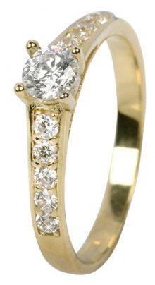 Brilio Dámský prsten s krystaly 229 001 00668 - 1,85 g 59 mm