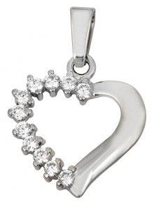 Brilio Přívěsek srdce s krystaly 249 001 00351 07 - 1,35 g