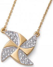 Oliver Weber Pozlacený náhrdelník s krystaly Ocean Turb 11722