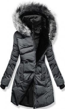 MODOVO Dámská zimní bunda s kapucí M11 šedá
