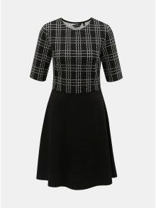Bílo-černé kostkované šaty s krátkým rukávem Dorothy Perkins