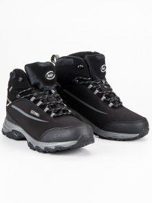 Černé softshellové pánské zimní boty