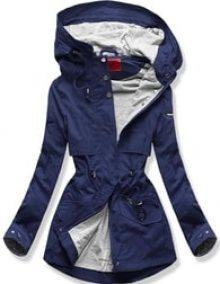 MODOVO Dámská přechodná bunda s kapucí QL-243 tmavě modrá