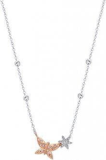 Morellato Ocelový bicolor náhrdelník s motýlkem Natura SAHL03