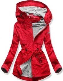 MODOVO Dámská přechodná bunda s kapucí QL-243 červená