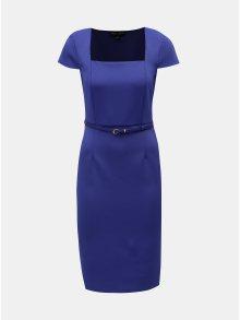 Modré pouzdrové šaty s páskem Dorothy Perkins