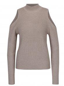 Béžový svetr s průstřihy na ramenou VILA Heida