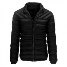 Pánská bunda prošívaná bez kapuce černá