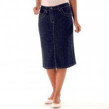 Blancheporte Džínová sukně s rozparkem modrá 42