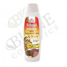 Bione Cosmetics Výživné tělové mléko Arganový olej + Karité 500 ml