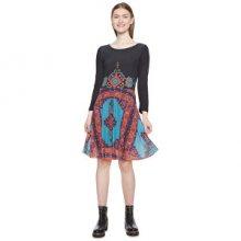 Desigual Dámské šaty Vest Julianne Verde Botella 18WWVK31 4009 M