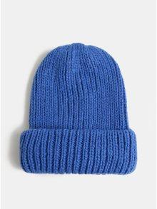 Modrá pletená čepice Pieces Flava 684dfe57e3