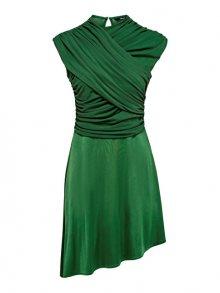 ONLY Dámské šaty True S/L Drappy Dress Jrs Verdant Green XS