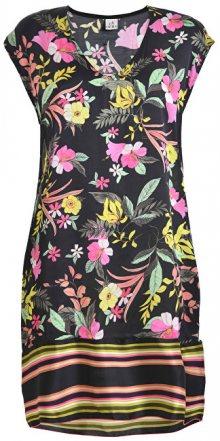 Deha Dámské šaty Printed Viscose D73512 Nero/Giallo/Fux/Aqua M