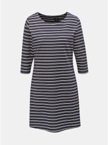 Tmavě modré pruhované šaty ONLY Brilliant