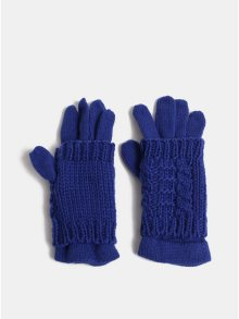 Tmavě modré rukavice s návlekem 2v1 ONLY Thona