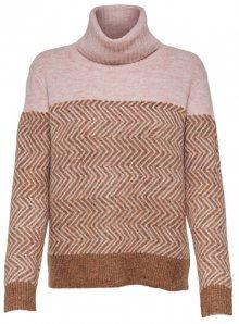 ONLY Dámský svetr New Mara L/S Rollneck Pullover Knt Indian Tan S