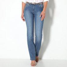 Blancheporte Rovné džíny s push-up efektem sepraná modrá 36