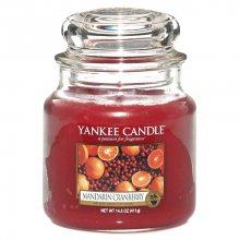 Yankee candle Vonná svíčka ve skle - Mandarinky s brusinkami, 410g\n\n