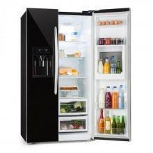 Klarstein Grand Host XXL chladnička, 550 litrů, dávkovač ledu a vody, A +, černá barva