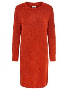 ONLY Dámské šaty Gold L/S Dress Knit Poinciana Melange S