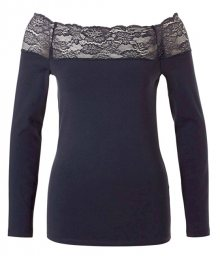 ONLY Dámské triko Celeste L/S Lace Top Jrs Night Sky M