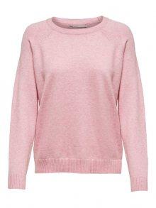 ONLY Dámský svetr Lesly Kings L/S Pullover Knt Noos Light Pink W. Melange XS