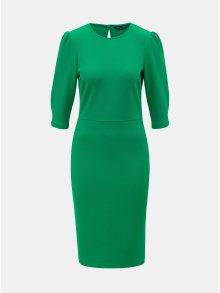 Zelené pouzdrové šaty s 3/4 rukávem Dorothy Perkins