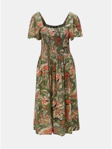 Khaki květované šaty Dorothy Perkins