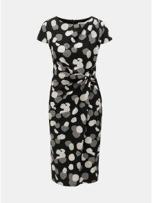 Černé puntíkované pouzdrové šaty Lily & Franc by Dorothy Perkins