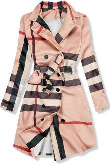 Béžový károvaný plášť