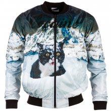 Bittersweet Paris Cocaine Cat Bomber Jacket