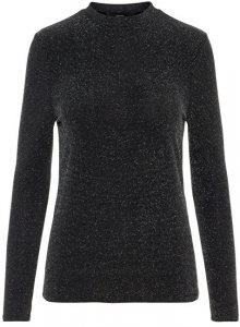 Vero Moda Dámský svetr Leilani Ls O-neck Blouse Pl Black W.Black Sequins S