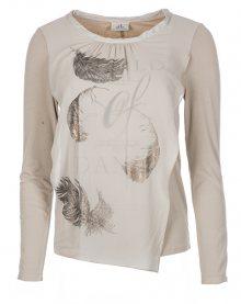 Deha Dámské triko Long Sleeve T-Shirt B84160 Natural Beige L