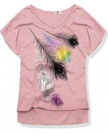 Pudrové tričko 7318-3