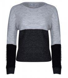 ONLY Dámský svetr Santana L/S Block Pullover Knt Light Grey Melange XS