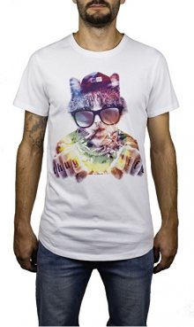 Hydroponic Pánské triko Thug Cat SS White M