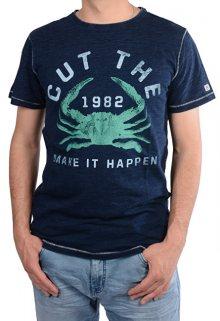 Cars Jeans Pánské tmavě modré tričko s potiskem Rodrigo Indigo 4218211 M