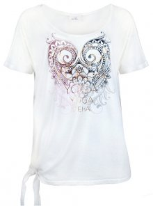 Deha Dámské triko Knotted T-Shirt B84533 Snow White S