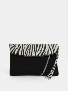 Bílo-černá crossbody kabelka se zebrovaným vzorem Dorothy Perkins