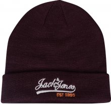 Jack&Jones Pánská čepice Logo Knit Beanie Port Royale