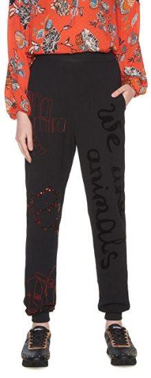 Desigual Dámské kalhoty Pant Dawson Negro 18WWPW05 2000 L
