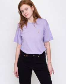 Carhartt WIP Chase T-Shirt Soft Lavender / Gold L