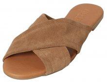 Pieces Dámské pantofle Marnie Suede Sandal Desert Taupe 36