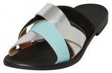Pieces Dámské pantofle Cari Leather Sandal Silver 36