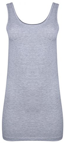 ONLY Dámské tílko Live Love New Long Tank Top Noos Light Grey Melange XS
