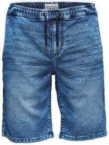 ONLY&SONS Pánské kraťasy Linus Jog Shorts Blue Pk 9062 Blue Denim S